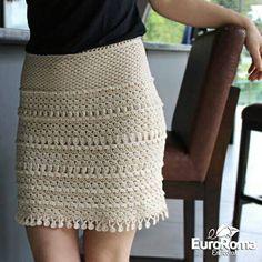 Crochet pretty and feminine beige skirt. Free patterns for crochet skirt Crochet Bodycon Dresses, Crochet Skirts, Beige Skirt, Lace Skirt, Hand Crochet, Knit Crochet, Crochet Summer, Crochet Skirt Pattern, Skirt Patterns