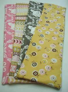 """I used Daisy Cottage fat quarters  for thesebags and I cut 2 different  pieces of fabric 6"""" x 20""""..."""