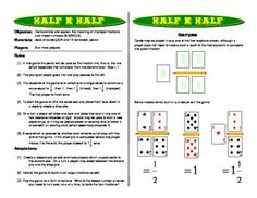 Half N Half: Improper Fractions Games and Mixed Numbers Games http://www.teacherspayteachers.com/Product/Half-N-Half-Improper-Fractions-Games-and-Mixed-Numbers-Games-264257