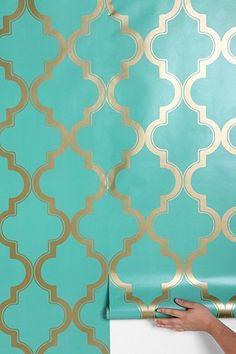 Marrakesh Honey Wallpaper - Accent Wall
