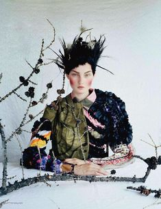 iiiinspired _ an awfully big adventure, kirsi pyrhonen by tim walker in vogue uk dec 2011, some images cropped!!! _ 4
