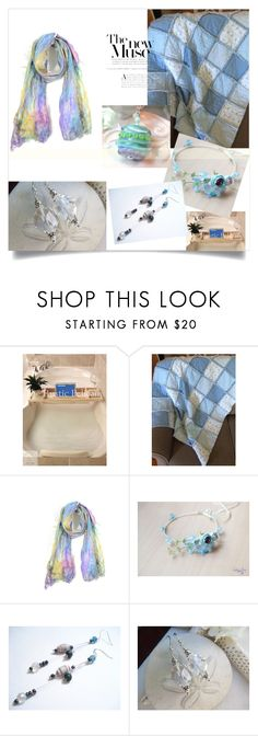 """""""Sky Blue"""" by therusticpelican ❤ liked on Polyvore featuring modern, contemporary, rustic and vintage"""