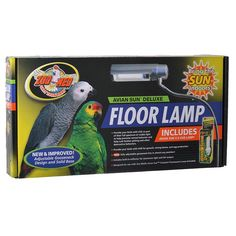 🐦 Zoo Med Avian Sun Deluxe Floor Lamp for birds features a fully adjustable gooseneck and solid base. Reflector provides maximum light and UVB. One Avian Sun 5.0 UVB bulb included.