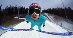 Where The Hell Did They Put The Camera in This Awesome Ski Jump Video?