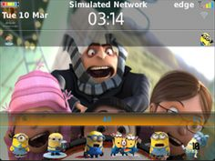 MasCrayon World's: MINIONS Theme OS7 for Blackberry