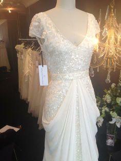 @Karen Willis Holmes Alexandra Gown  + Genevieve Overlay #nyc #bridal #kwh #karenwillisholmes