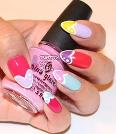 Pinterest #girls   nail designs -  idea,  #wow  #nail  #Easy