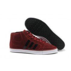 Adidas Vlneo Hoops Mid Shoes Mørkrød Hvid Sort Herre
