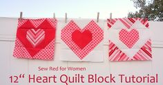 Olha só, mais um desafio da nossa linda Maratona de Patchwork do ClubinhoDaCostura ! Um bloco muito lindo, em formato de coração, p...