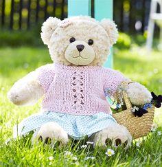 Sød lyserød bluse med hulmønster til Build-A-Bear - Hendes Verden