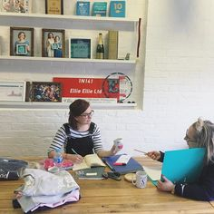 For day 3 of #MarchMeetTheMaker we're sharing our workspace - My favourite room in HQ is our meeting room where we come together to chat, here we're having a design meeting, signing off the next collection! Behind us you can see our memory wall, where we display our awards and special photos, and a bottle of emergency prosecco of course! 🍾 #MeetTheMaker #meettheteam #behindthescenes #designmeeting