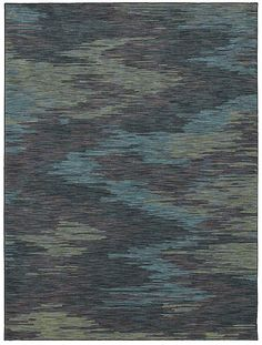 """Area Rug in style """"Ethos"""" color Blue - great Ikat pattern! - by Shaw Floors"""
