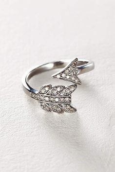 Diamond Arrow Ring - anthropologie.com