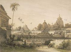 Purushotama Jagannatha temple in ancient postcards