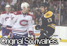 original six rivalries!