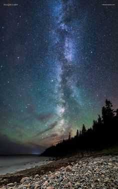 Night at Hunters Head - Acadia Nat'l Park [OC] landscape Nature Photos Nocturne, Beautiful World, Beautiful Places, Sky Full Of Stars, Pokemon, Milky Way, Night Skies, Pretty Pictures, Science Nature