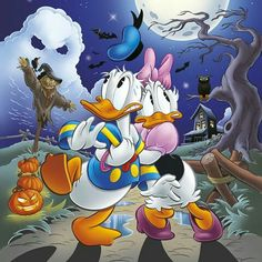Halloween Donald Duck and Daisy Duck Walt Disney, Disney Duck, Disney Love, Disney Magic, Disney Mickey, Disney Art, Disney Pixar, Disney Characters, Mickey Mouse Y Amigos