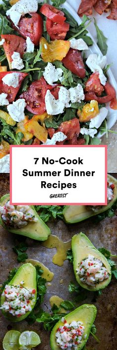Because you have to eat something besides ice pops and frozen drinks. #greatist https://greatist.com/eat/no-cook-summer-dinner-recipes