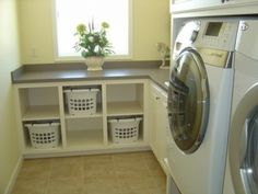 47 Efficient Small Laundry Room Design Ideas - Modul Home Design Laundry Basket Shelves, Laundry Room Cabinets, Laundry Room Organization, Laundry Room Design, Laundry Storage, Diy Cabinets, Storage Cabinets, Clothes Storage, Washing Baskets