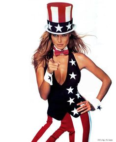 60 fabulous photos of celebrities in patriotic poses. Flag Inspired fashion from vintage Hollywood 4th of July pin-ups to pop Stars, actresses and models.