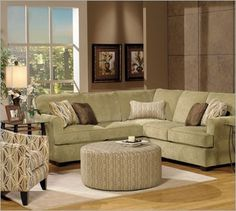 apartment sized sectional with ottoman