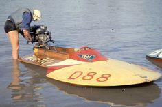 Vintage Wooden Boats   Vintage OUTBOARD motor boat racing!   D.B.R.C. RACING