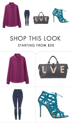 """""""lady first"""" by hanii-omachiss ❤ liked on Polyvore featuring Uniqlo, Eddie Harrop, Topshop and Christian Louboutin"""