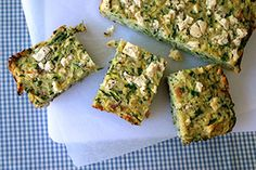 Zucchini, quinoa and egg slice. from low GI Newsletter