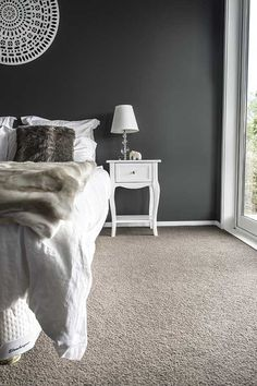 Dark Grey Wall And To Lighter Carpet Perfection
