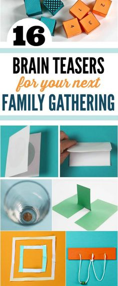 Brain teasers for family gatherings. Kids will love to stump the grown-ups.