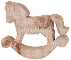 Wooden Rocking Horse With Stamp @ gainsboroughgiftware.com Woodland, Stamp, Horses, Christmas, Xmas, Stamps, Navidad, Noel, Horse