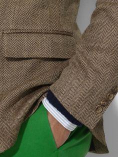 Polo Ralph Lauren herringbone sport coat.