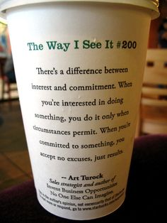 the way i see it #200. the difference between interest and commitment.