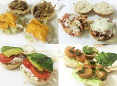 Muchas ideas para preparar ricos mini sandwich rellenos con verduras, carne, pollo, queso y diferentes salsas, ideales para cumpleaños y aperitivos.