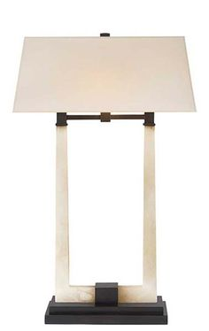 DOUBLE COLUMN TABLE LAMP