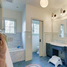 37 light blue bathroom floor tiles ideas and pictures 2019 Bathroom Floor Tiles, Bathroom Toilets, Bathroom Renos, Bathroom Layout, Bathroom Ideas, Cow House, Master Bedroom Bathroom, Master Baths, Toilet Room