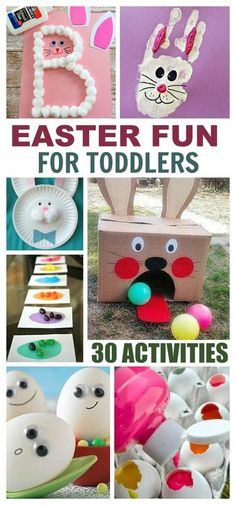 30+ Easter activities perfect for toddlers- crafts, games, fun science, and more! Easter Activities For Toddlers, Holiday Activities, Holiday Crafts, Holiday Fun, Science Toddlers, Spring Crafts, Crafts With Toddlers, Spring Toddler Crafts, Spring Activities