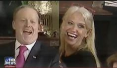SWEET JUSTICE: Photos Emerge of Kellyanne Conway and Sean Spicer Laughing as TRUMP Castigates Liberal Press