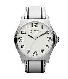 Marc by Marc Jacobs Ladies Trompe Henry White Leather Strap Watch #Dillards