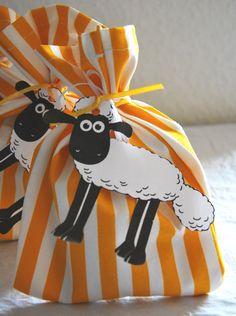 Shaun the sheep party bags #ShaunTheSheepFlock #ad