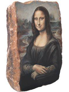 Mona Lisa Leonardo da Vinci rock painting Paris Louvre