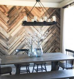 DIY Barn wood herringbone wall treatment  // Fal díszítés fával  rusztikus stílusban (halszálka mintával) // Mindy - craft tutorial collection