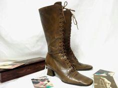 Our Prada boots from 1993 ca Lerario Lapadula Fashion Archives #victorian #shoes #boots #belleepoque #chaussures #fetish #vintage #sabbychic #fashion #autumn #lerariolapadula #calzature #90s #scarpe #stivali #museum