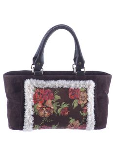 Leather and fabric purse Composition : Leather and fabric Dimensions : Height : 22 cm, length : 34 cm, width : 14 cm.  ​Phone orders : 0727 781 988