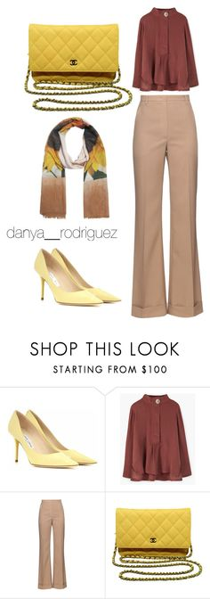 """""""Untitled #50"""" by sousou2578 on Polyvore featuring Jimmy Choo, MANGO, Nina Ricci, Chanel and Do Everything In Love"""