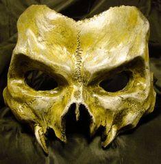 New Phantom of the Opera.Vampire Skull Mask by UratzStudios Black Dagger Brotherhood, Larp, Mascara Papel Mache, Cosplay, Vampires, Vampire Skull, Vampire Mask, Skull Mask, Leather Mask