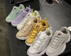 Original femme Fila Disruptor Premium II ROSE BLUSH NUDE Baskets Chaussures Chunky