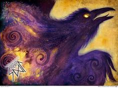 Fire in the Belly Crow Raven Celtic Goddess Spiral by AntlerThorn
