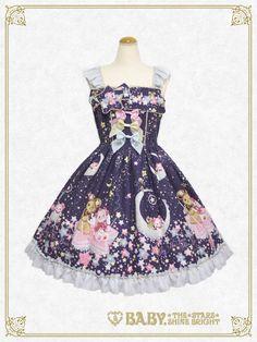BNWT Kumyas Glittery Milky Way JSK I + KC Fashion Sale, Cute Fashion, Estilo Lolita, Gothic Lolita Fashion, Lolita Style, Kawaii Clothes, Lolita Dress, Kawaii Fashion, Milky Way