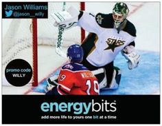 "JASON WILLIAMS: Jason is a Canadian born, Pro Ice Hockey Player! Jason currently plays for Oklahoma City Barons in the AHL. ""BITS have given me positive results for game day, which is key for the type of intensity hockey entails. I take 30 ENERGYbits before a game or training then 30 more BITS after a game or training to help recover. BITS have given me positive results for game day, which is key for the type of intensity hockey entails!"""